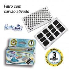 30200 - REFIL FILTRO FONTE PETS PLAST PET C/ 3 UNID